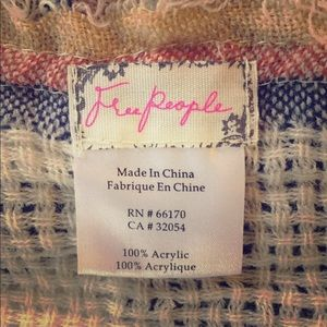 Free People One Size Shawl, NWOT